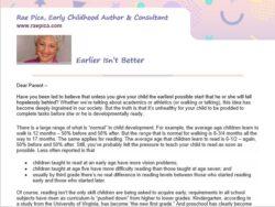 Reproducible Parent Letters
