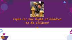 Fight for the right of children